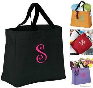 Personalized-Tote-Bag-Monogram-Embroidered-Bridesmaids-Bride-Bridal-Wedding-Gift