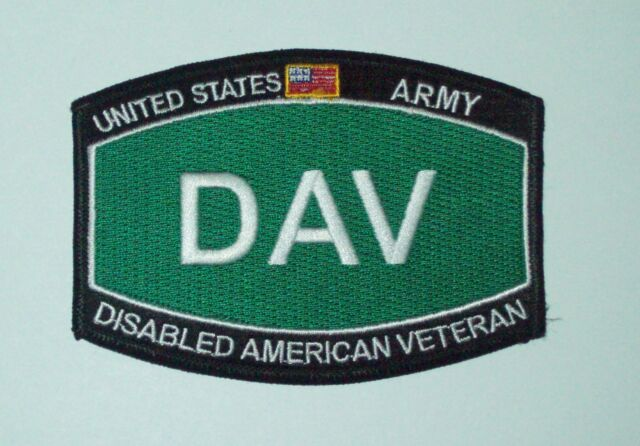 UNITED STATES ARMY DISABLED AMERICAN VETERAN MILITARY RATINGS PATCH - DAV