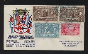 Nicaragua nice Taca color cachet cover to US 1943 MS0921