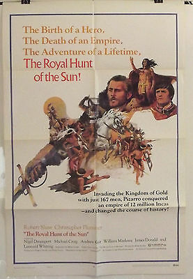 THE ROYAL HUNT OF THE SUN - ROBERT SHAW - ORIGINAL AMERICAN 1SHT MOVIE POSTER