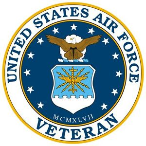 United-States-Air-Force-Veteran-Window-Decal-Sticker-NEW