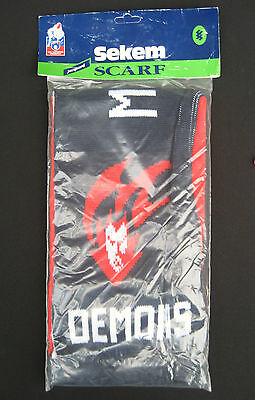 AFL MELBOURNE DEMONS Scarf Jaquard style Official - NEW!