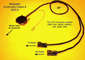 CAT Repeater Controller Cable Motorola CDM CDM1250 CM300 GM300 ...