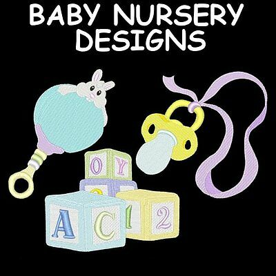 BABY NURSERY DESIGNS - 30 MACHINE EMBROIDERY DESIGNS (AZEB)