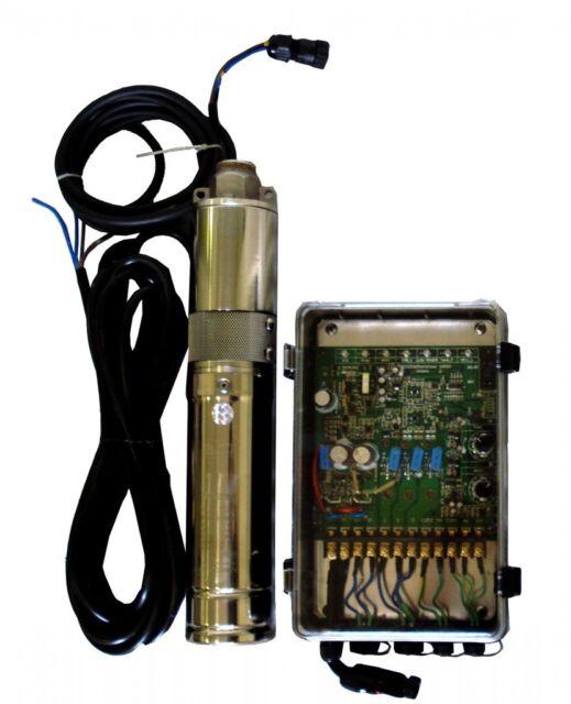 "3"" Solar Pump for Deep Well, 400ft Max. Head. w/ Automatic Control Box. 500W 48V"