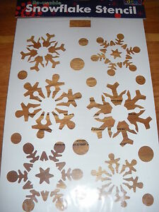 RE-USABLE-SNOWFLAKE-STENCIL-CHRISTMAS-WINDOW-DECORATION
