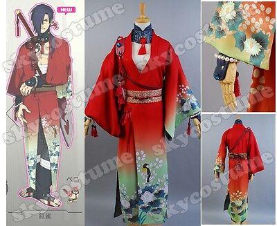 DMMD Dramatical Murder koujaku Kimono Cosplay Costume Outfit Suit Bathrobe Robe