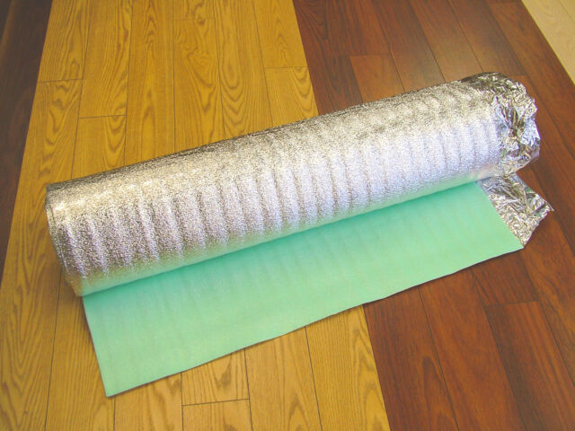 Silver Underlay 3mm With Vapour Barrier Laminate or Wood Flooring 15 sq.m
