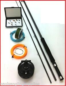 1-FLY-FISHING-KIT-ALL-THE-TACKLE-INC-line-reel-rod-flys