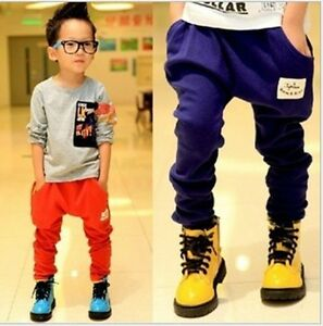 Funcky-Kids-Clothes-Boys-Trousers-Candy-Color-All-Match-039-Harem-Pants-2-7Year-1
