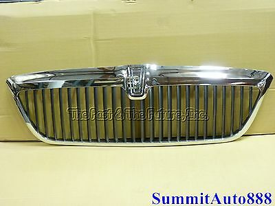 98 99 01 02 Lincoln Navigator Upper Grille Grill Chrome Gray Grey GB-LNN1000A