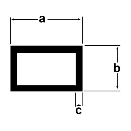 Alu Rechteckrohr Aluprofil 2 Meter diverse Abmessungen Aluminiumprofil Aluminium