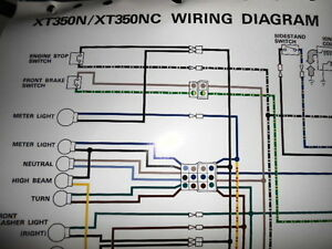 wiring harness connect colors yamaha oem factory color wiring diagram schematic 1985 ... yamaha wiring harness wire colors #10