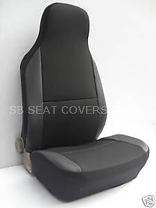 MAZDA MX-5 CAR SEAT COVERS - CHARCOAL BLACK CSC003 - 2 FRONTS
