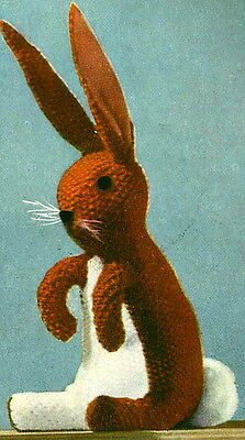 Vintage 1940s knitting pattern-cute little bunny rabbit toy to make