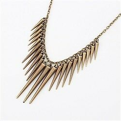 New-Bronze-Rivet-Spike-Statement-Necklace-Topshop-Asos-Tribal-Punk-Goth