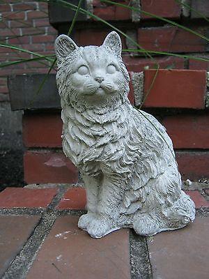 Sitting Cat Concrete Statue, Garden Cat, Outdoor Cement Cat
