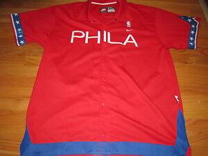 Nike 1966 PHILADELPHIA 76ers Button Down Heavy (3XL) Player Jersey Jacket