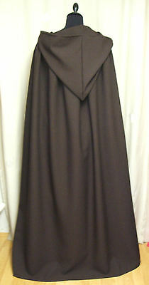 LARGE BROWN HOODED CAPE/CLOAK    HOBBIT - JEDI - BILBO