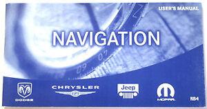 Chrysler Navigation (RB4) User's manual #81-170-04050