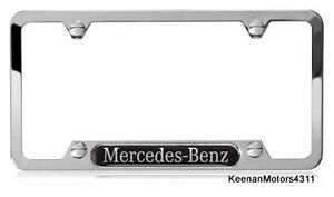 Genuine mercedes benz stainless steel with carbon fiber for Mercedes benz stainless steel license plate frame