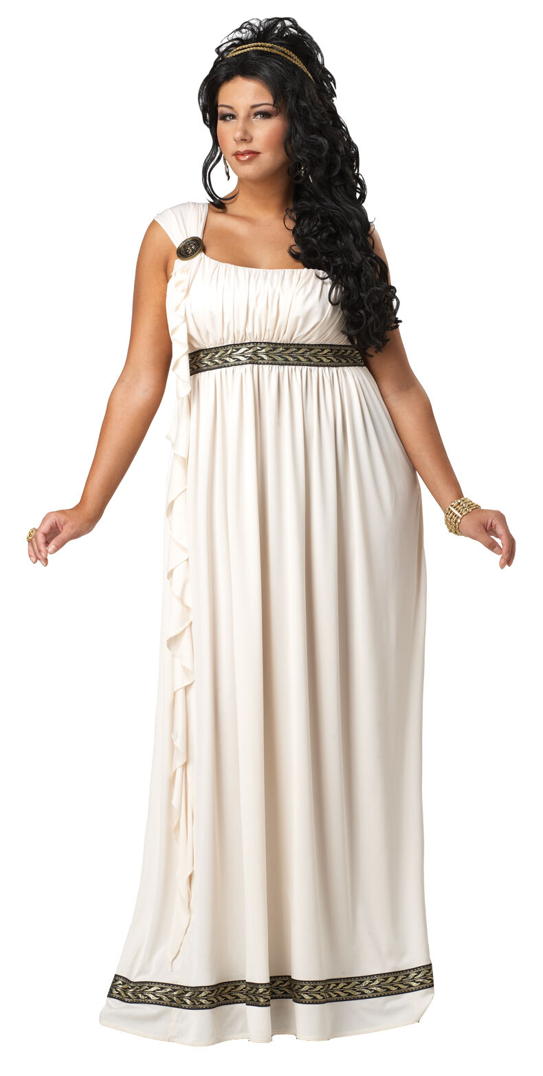 Adults Greek Goddess Outfit Fancy Dress Including Sandals Size 16-18 Toga Party
