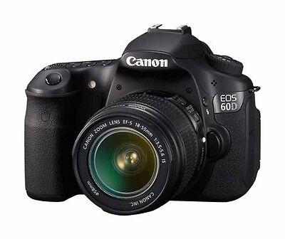 Canon EOS 60D 18.0 MP Digital SLR Camera - Black (Kit w/ EF-S IS 18-135mm Lens)