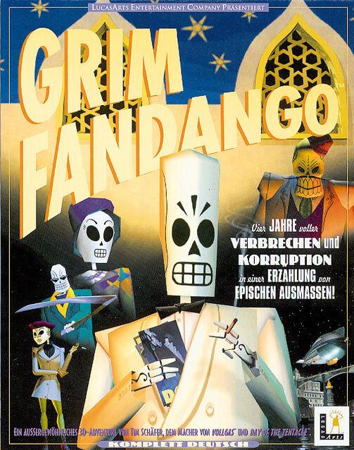 Grim Fandango (PC, 1998) - Deutsche Version in Original Cdrom Hülle