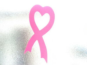 Show support breast cancer love heart pink ribbon vinyl ...