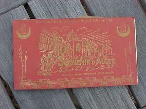 ORIGINAL BOOK OF VINTAGE POST CARDS W/ MAP - ALGER / ALGERIA