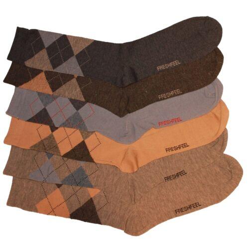 6 x Uomo Misto Cotone Designer design stile RINFORZATI Heal SOCKS
