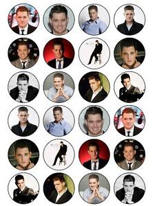 24-x-PRE-CUT-MICHAEL-BUBLE-CUPCAKE-FAIRY-CAKE-EDIBLE-RICE-WAFER-PAPER-TOPPERS