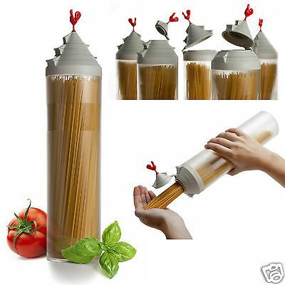 Spaghetti Tower Smart Storage Container Pasta Dispenser Jar Canister By OTOTO