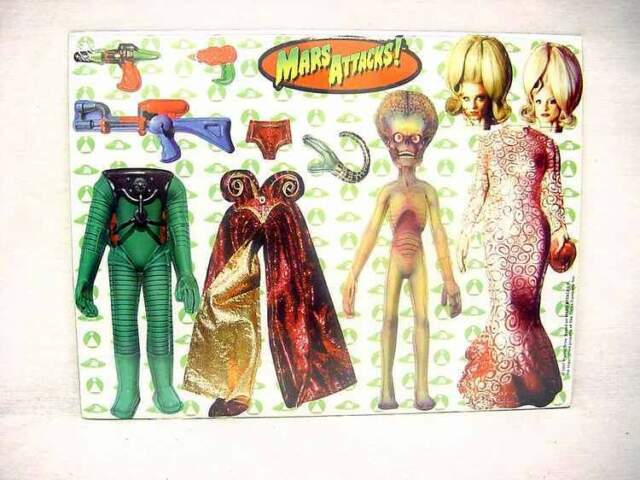 Mars Attacks 1996 Vintage Martian  Spy Girl Magnetic Dress up Kit Ata-Boy