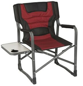 OZTRAIL-DIRECTORS-JUMBO-WITH-SIDE-TABLE-CAMPING-Portable-CHAIR-Picnic