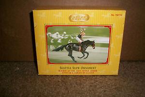 Breyer-700115-Seattle-Slew-2005-Holiday-Ornament-Triple-Crown-Winner-NIB