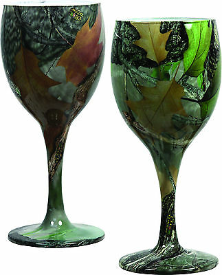 Wine Glass Camo,Redneck Wedding,  Camouflage, Goblet,Rivers Edge 093