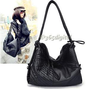 2012-Doods-Fashion-Women-039-s-PU-Leather-Handbag-Shoulder-Bag-Tote-Bag-Larger