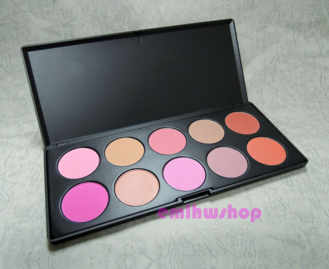 New 10 Piece Color Professional Makeup Blush Palette