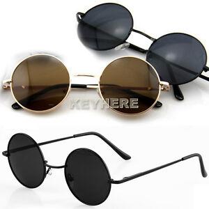 Retro-Round-Sunglasses-Eyeglasses-Glasses-New-Vintage-Tortoise-Frame-Lens-K0E1
