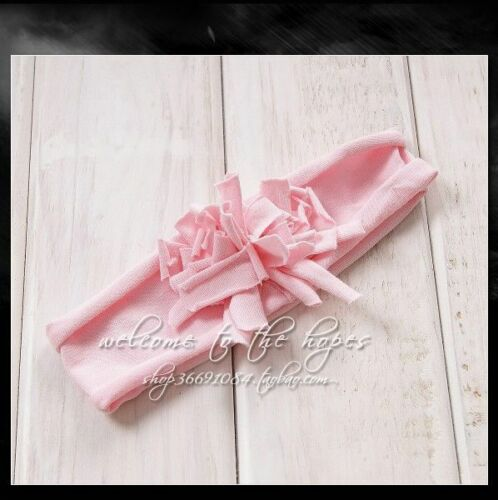 Girls Baby Infant Kids Cotton Flower Soft Elastic Headband Hair wear head band