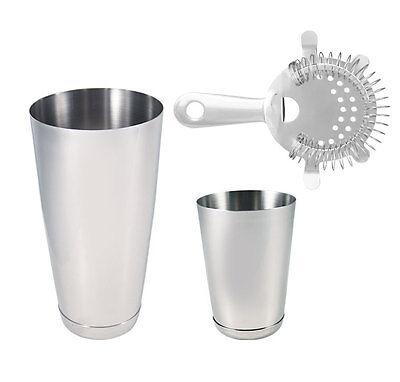 3 pc Stainless Steel Professional Bartending Kit, Bartending Tools, Bar Set