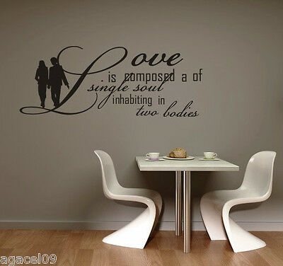 LOVE HOME LIVING ROOM ART WALL QUOTE VINYL DECOR STCKER DECAL STENCIL GRAPHIC