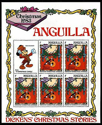 Anguilla 547-5 MNH Disney characters productions Duck  Mickey 1983 sheets x10503