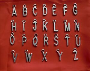 Metal Initials For Crafts 10 Letters A  Z Individuals Metal Silver Tone Initials For Crafts
