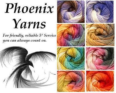 MAGIC SELF STRIPING multi DK Double Knitting Knit WOOL YARN 100g *COLOUR CHOICE*