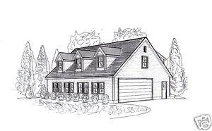 42 x 32 oversized 3 4 stall garage with dormered loft for Garage apartment plans ebay