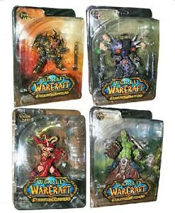 DC-WOW-World-of-Warcraft-Series-1-Complete-Action-Figure-Set-Lot-of-4