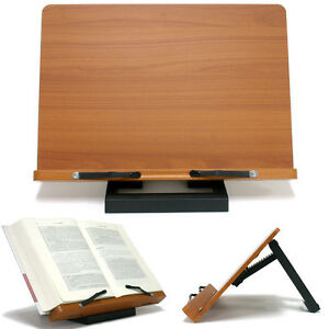 Book Stand Portable Wooden Reading Desk Holder J Ebay