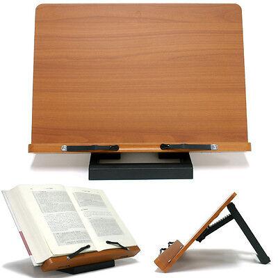Book Stand Portable Wooden Reading Recipe Cookbook Desk Music Holder Jasmine
